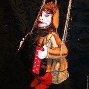 """Мягкие игрушки ручной работы. Ярмарка Мастеров - ручная работа Эксклюзивная ёлочная игрушка """"Мужичок с гармошкой"""". Handmade."""