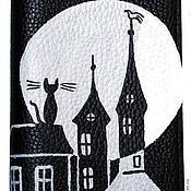 Канцелярские товары ручной работы. Ярмарка Мастеров - ручная работа Обложка Луна. Handmade.