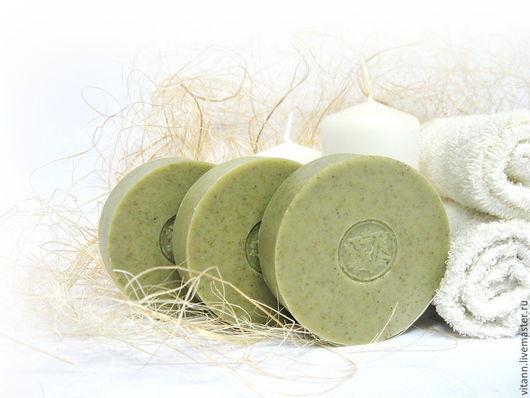 """Мыло ручной работы. Ярмарка Мастеров - ручная работа. Купить """"Зеленая глина и бергамот"""" натуральное мыло. Handmade. Натуральное мыло"""
