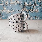 Посуда ручной работы. Ярмарка Мастеров - ручная работа кружки с пупырками. Handmade.