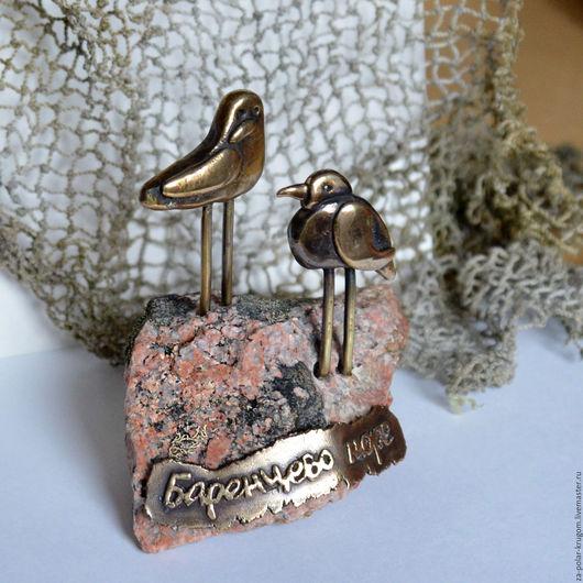 Статуэтки ручной работы. Ярмарка Мастеров - ручная работа. Купить Скульптурная миниатюра Птичий базар - мини (Баренцево море). Handmade.