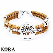 Украшения handmade. Livemaster - original item Bracelet of Portuguese cork tree of life handmade B0108. Handmade.