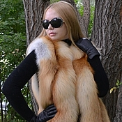 Одежда handmade. Livemaster - original item Vest fur Siberian red Fox. Solid.. Handmade.