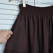 Одежда handmade. Livemaster - original item Linen skirt with pockets