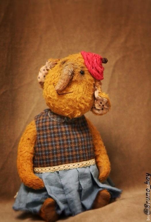 Мишки Тедди ручной работы. Ярмарка Мастеров - ручная работа. Купить Мэри. Handmade. Горчичный цвет, слон, тедди слон