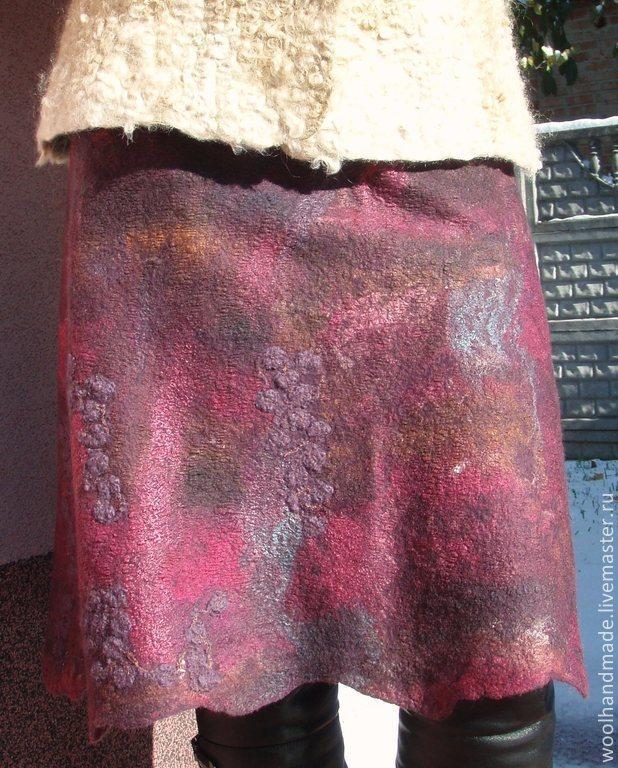 Skirt wool Winter cherry, Skirts, Vinnitsa,  Фото №1