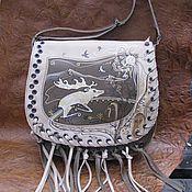 "Сумки и аксессуары handmade. Livemaster - original item Bag leather ""Altai"". Handmade."