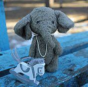 Куклы и игрушки ручной работы. Ярмарка Мастеров - ручная работа слонёнок. Handmade.