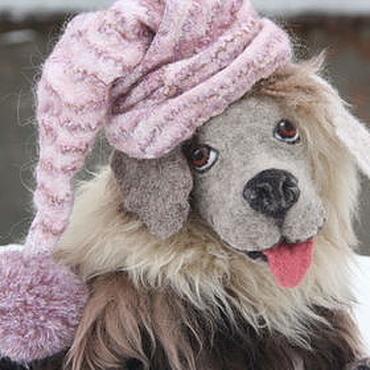 Куклы и игрушки ручной работы. Ярмарка Мастеров - ручная работа Собака. Собачка игровая из шерсти. Handmade.