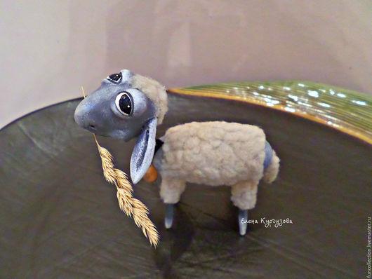 Куклы и игрушки ручной работы. Ярмарка Мастеров - ручная работа. Купить Овечка Моли.. Handmade. Бежевый, овечка игрушка