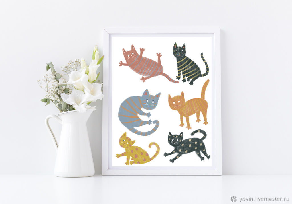 Posters for the nursery Funny cats Pictures with cats for the house, Pictures, St. Petersburg,  Фото №1