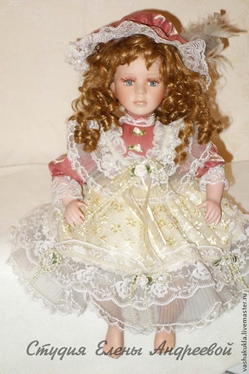 Реставрация. Ярмарка Мастеров - ручная работа. Купить Фарфоровая кукла. Реставрация. Handmade. Бежевый, восстановление куклы, ретро