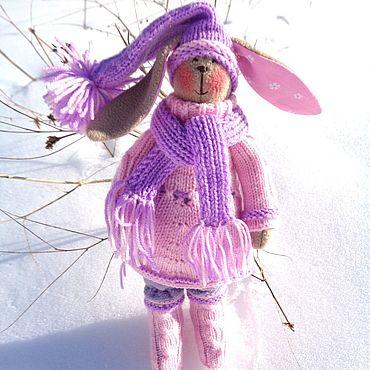Куклы и игрушки ручной работы. Ярмарка Мастеров - ручная работа Тильда зайка в розовом. Handmade.