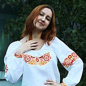 Одежда handmade. Livemaster - original item Linen blouse