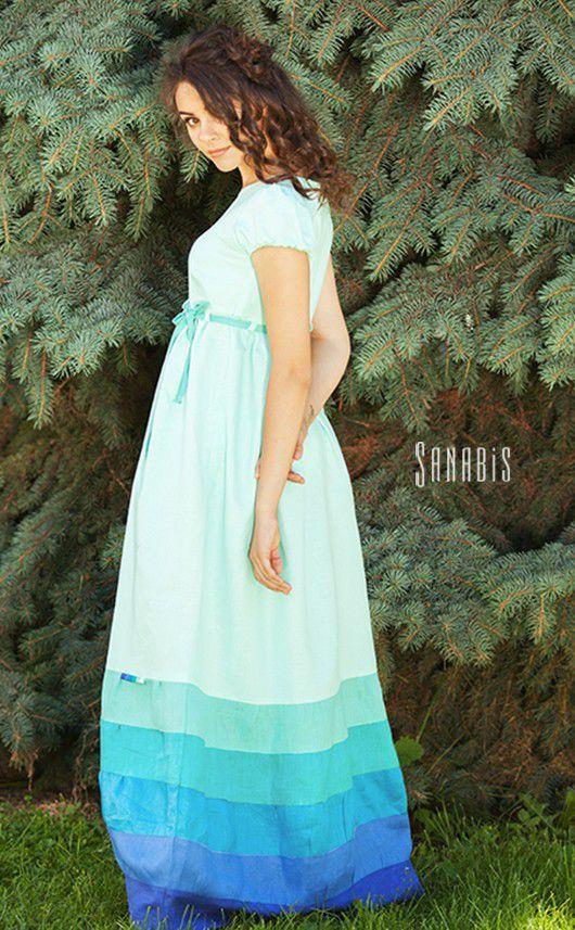 a9d2f8fb3677b03 Платья ручной работы. Льняное платье «Мятное». Ксения Берестовая (sanabis).