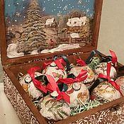 Подарки к праздникам ручной работы. Ярмарка Мастеров - ручная работа Рождественский винтажный набор. Handmade.