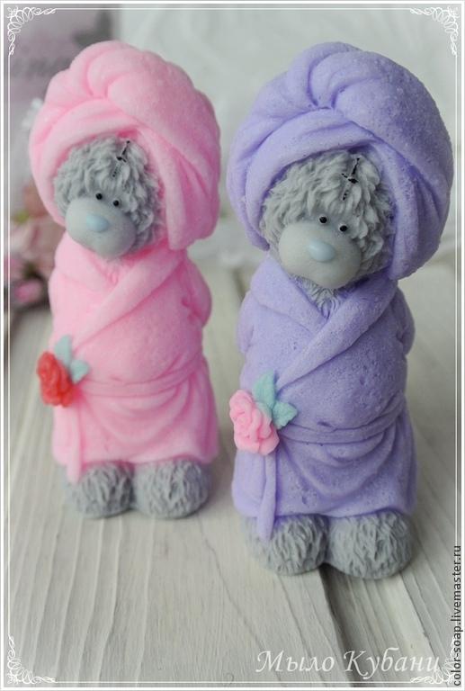 Мыло ручной работы. Ярмарка Мастеров - ручная работа. Купить Мишка в халате - мыло ручной работы в подарок, сувенирное мыло. Handmade.