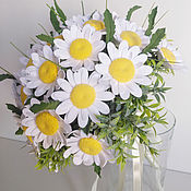 Цветы и флористика handmade. Livemaster - original item a bouquet of daisies. Flowers polymer clay handmade.. Handmade.