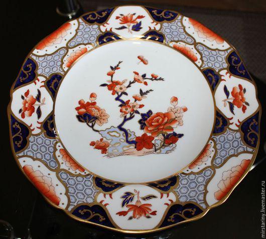 Винтажные предметы интерьера. Ярмарка Мастеров - ручная работа. Купить Красивая тарелка, расписанная в японском стиле, фирмы Spode, Англия. Handmade.