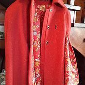 Одежда ручной работы. Ярмарка Мастеров - ручная работа Пальто - кейп шерсть. Handmade.