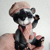 Куклы и игрушки ручной работы. Ярмарка Мастеров - ручная работа Бисерная игрушка Енотик. Handmade.