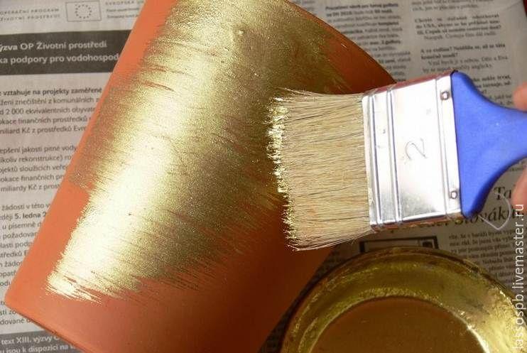 Как сделать красками золотой цвет