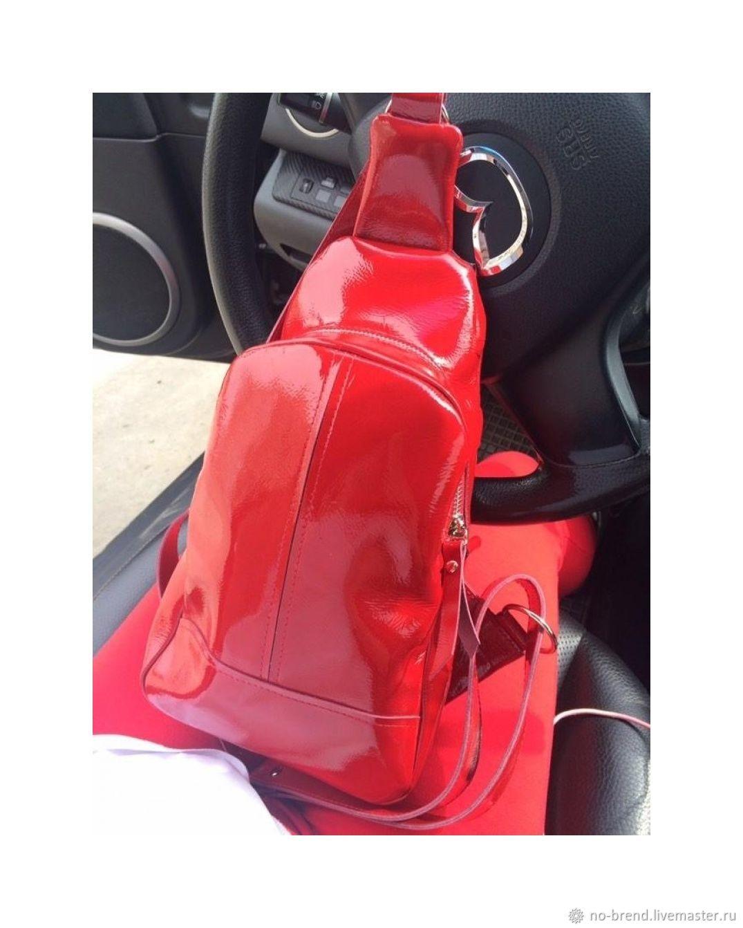 ccdcee8c69ac Рюкзаки ручной работы. Ярмарка Мастеров - ручная работа. Купить Женский  кожаный рюкзак. Красный ...