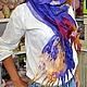 """Шарфы и шарфики ручной работы. Ярмарка Мастеров - ручная работа. Купить Валяный шарф на шёлке """"Океанский бриз"""". Handmade."""