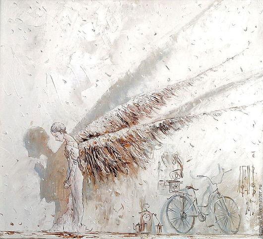 """Символизм ручной работы. Ярмарка Мастеров - ручная работа. Купить """"Молитва"""". Handmade. Бежевый, картина для детей, картина на заказ"""
