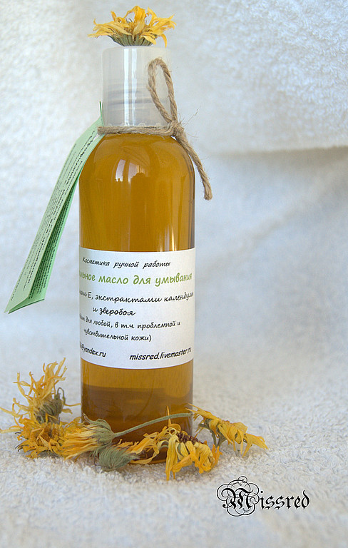 Makeup Removers handmade. Livemaster - handmade. Buy Oil cleanser a hydrophilic 'Calendula'.Hydrophilic oil, oil, oil cleanser