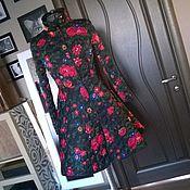 Одежда ручной работы. Ярмарка Мастеров - ручная работа Утепленное пальто-платье Цветы. Handmade.