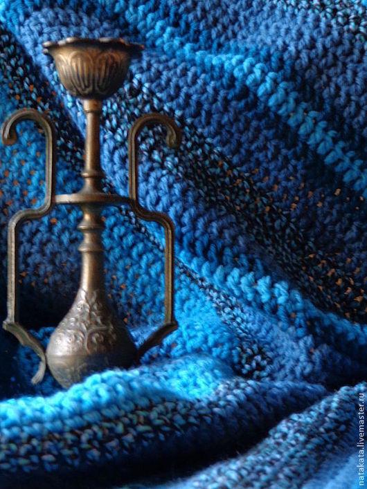 """Текстиль, ковры ручной работы. Ярмарка Мастеров - ручная работа. Купить Плед """"Бирюзовые мечты"""". Handmade. Тёмно-бирюзовый, коврик"""