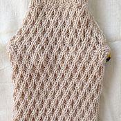 Для домашних животных, ручной работы. Ярмарка Мастеров - ручная работа Бежевый свитер для домашнего питомца. Handmade.