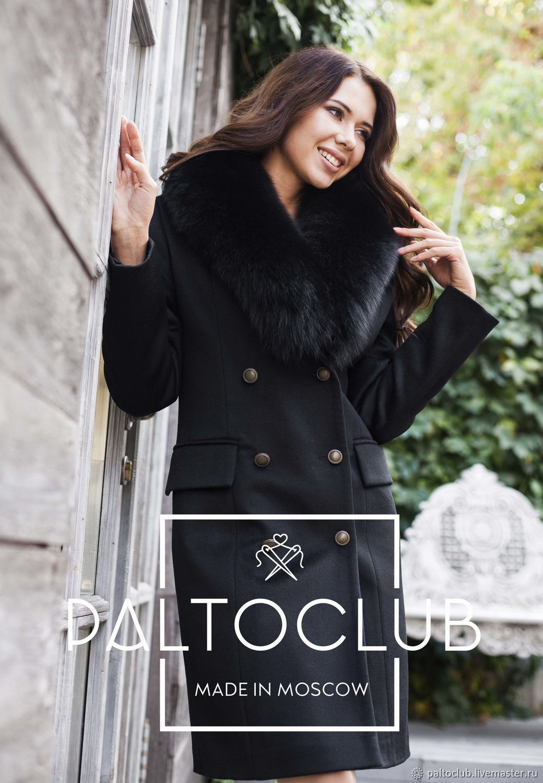 cb2d05b6d511 Зимнее пальто с мехом песца – купить в интернет-магазине на Ярмарке  Мастеров с ...