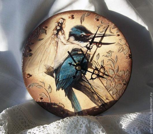 """Часы для дома ручной работы. Ярмарка Мастеров - ручная работа. Купить Часы """"Синяя птица"""". Handmade. Синяя птица"""