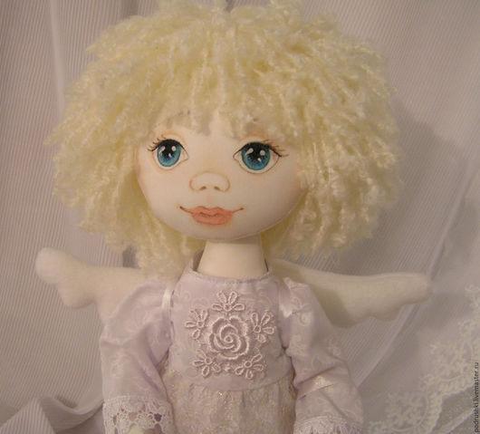 Коллекционные куклы ручной работы. Ярмарка Мастеров - ручная работа. Купить Кукла Ангел. Handmade. Белый, кукла интерьерная