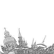 """Картины и панно ручной работы. Ярмарка Мастеров - ручная работа Авторская фотокартина """"Храм всех религий. Казань"""". Handmade."""