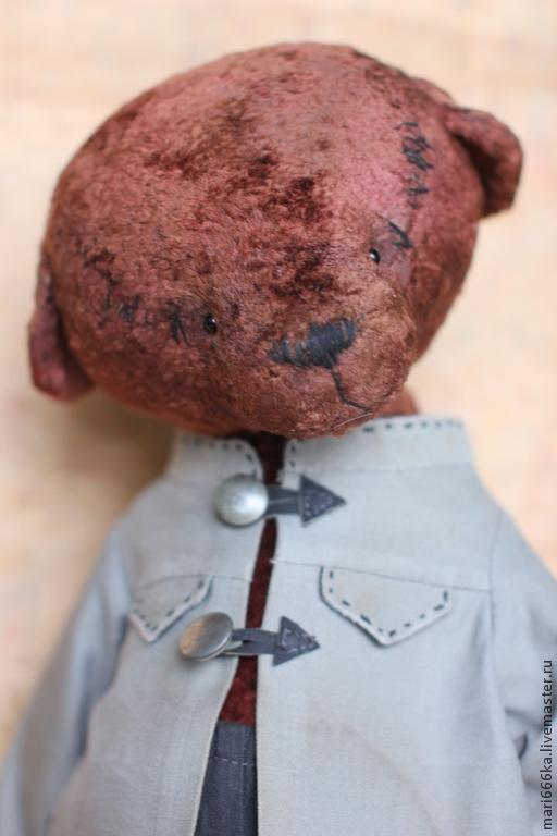 Мишки Тедди ручной работы. Ярмарка Мастеров - ручная работа. Купить Костик.. Handmade. Коричневый, теддик, винтажная фурнитура