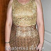 """Одежда ручной работы. Ярмарка Мастеров - ручная работа Платье """"Золото в шоколаде"""". Handmade."""