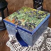 """Для дома и интерьера ручной работы. Ярмарка Мастеров - ручная работа шкатулка """"Винсент ван Гог. «Ирисы»"""". Handmade."""