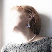 Украшения handmade. Livemaster - original item silver set necklace and earrings