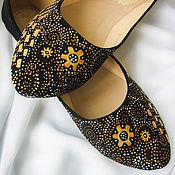 """Обувь ручной работы. Ярмарка Мастеров - ручная работа Балетки с росписью """"Восточные сказки"""" обувь. Handmade."""