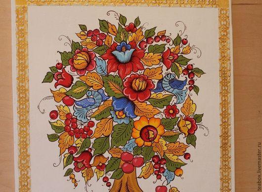 """Картины цветов ручной работы. Ярмарка Мастеров - ручная работа. Купить Панно на стену """"древо жизни"""". Handmade. Панно"""