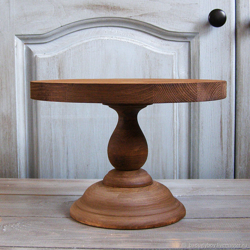 Copy of Wood Cake Stand 24 cm Cake platte, Сake box, Moscow,  Фото №1
