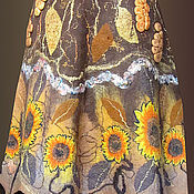 """Одежда ручной работы. Ярмарка Мастеров - ручная работа юбка и жакет валяные  """"Цветы солнца"""". Handmade."""