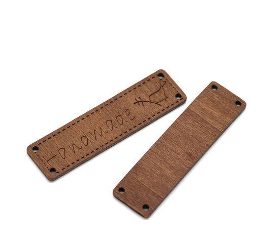Для украшений ручной работы. Ярмарка Мастеров - ручная работа. Купить Бирка деревянная. Handmade. Коричневый, фурнитура для украшений