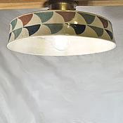 Для дома и интерьера handmade. Livemaster - original item Ceiling lamp with a tile pattern