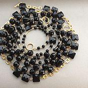 Украшения handmade. Livemaster - original item necklace-transformer big city lights of black agate. Handmade.