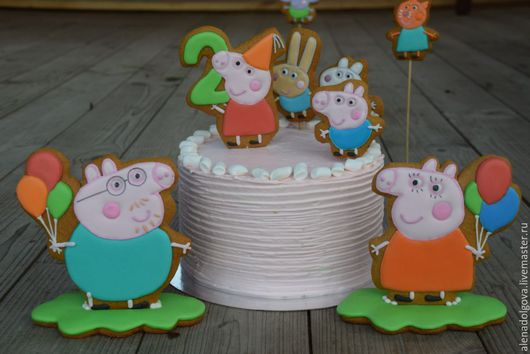 Персональные подарки ручной работы. Ярмарка Мастеров - ручная работа. Купить Имбирное печенье Свинка Пеппа. Handmade. Пеппа