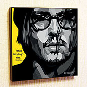 Картины и панно handmade. Livemaster - original item Painting poster johnny Depp in the style of Pop Art. Handmade.